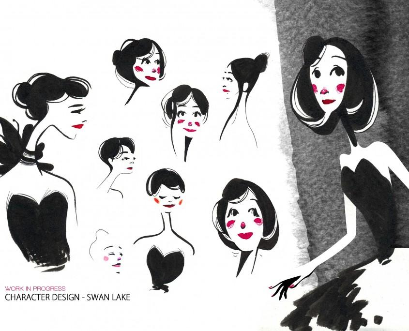characterdesign_swanlake_Odette_isabellechasseigne