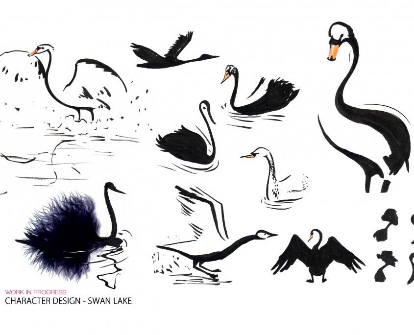 characterdesign_swanlake_swan_isabellechasseigne
